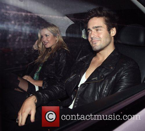 Caggie Dunlop and Spencer Matthews  leaving Beach...