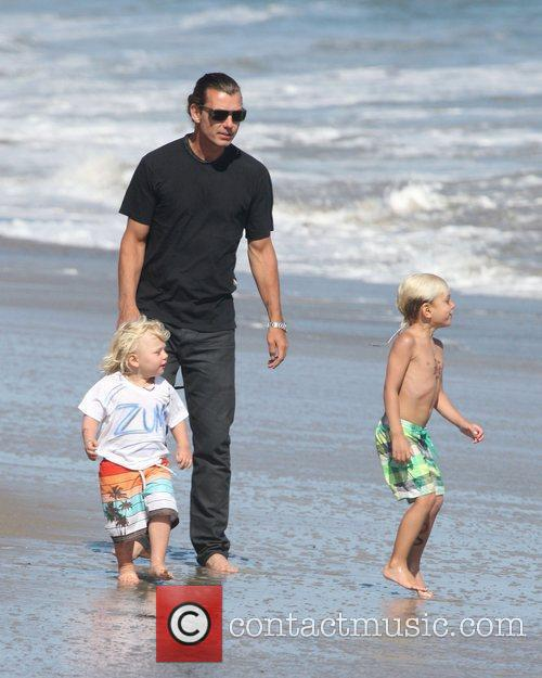 Gavin Rossdale with sons Zuma Rossdale and Kingston...