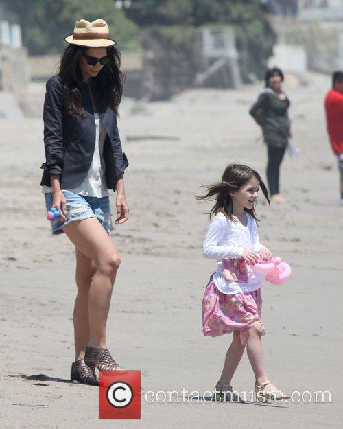 Katie Holmes and daughter Suri Cruise,  at...