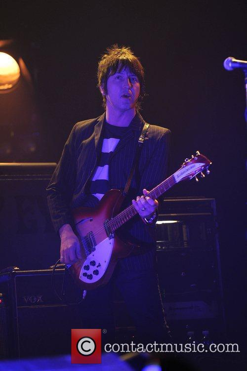 Gem Archer of Beady Eye perform in concert...