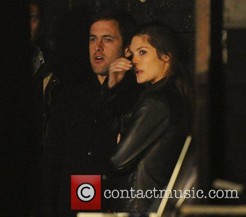 Joe Cole and Carley Cole watch from the...