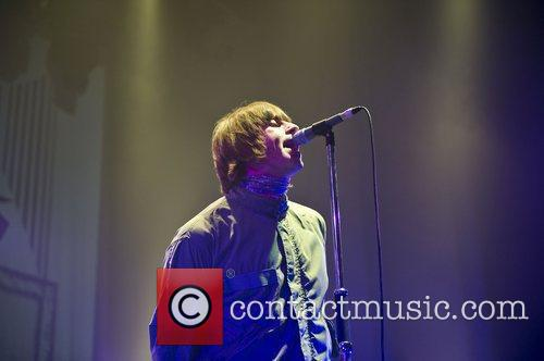 Liam Gallagher performs with his new band Beady...