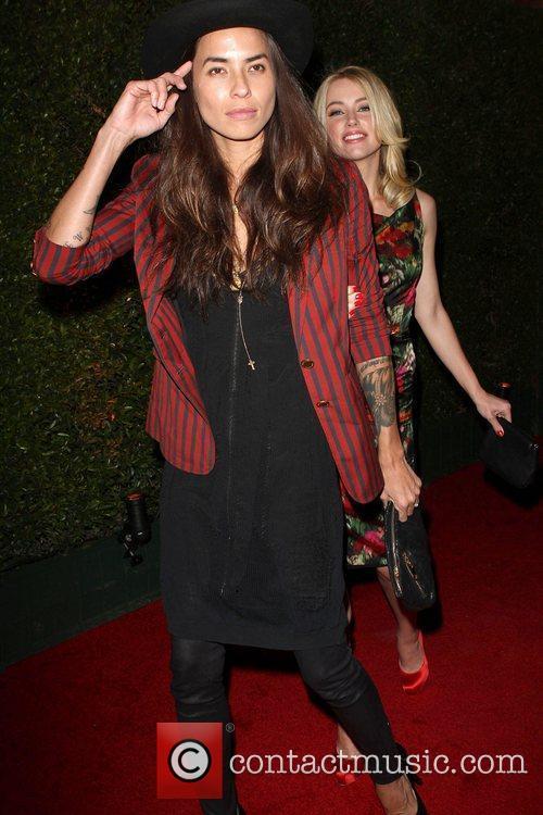 Amber Heard (R) and Girlfriend is Tasya van...