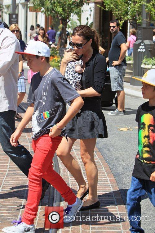 Victoria Beckham and Brooklyn 3