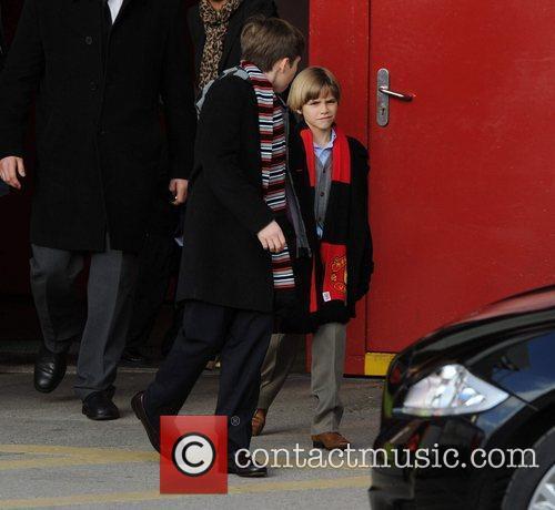 Brooklyn, David Beckham, Manchester United and Sandra Beckham 3