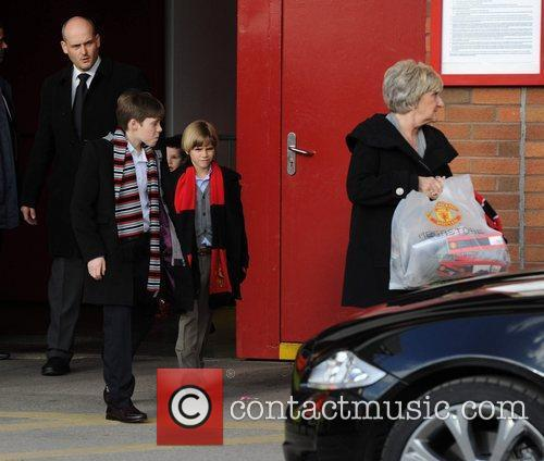 Brooklyn, David Beckham, Manchester United and Sandra Beckham