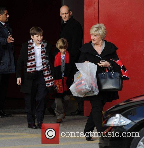 Brooklyn, David Beckham, Manchester United and Sandra Beckham 5