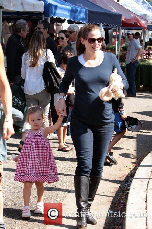 Ben Affleck, Jennifer Garner and their two daughters...