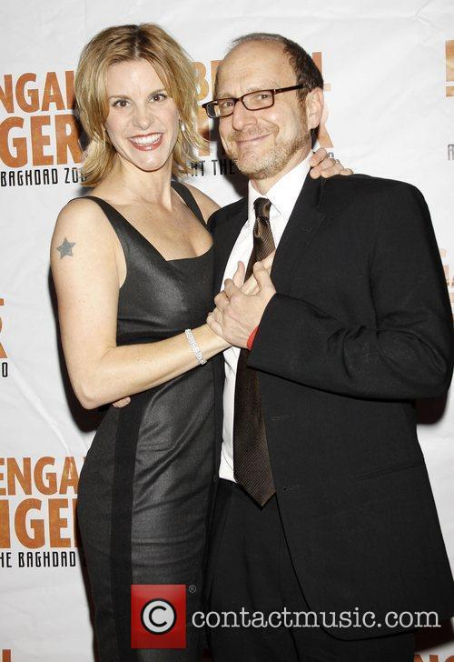 Jenn Colella and Lonny Price Opening night after...