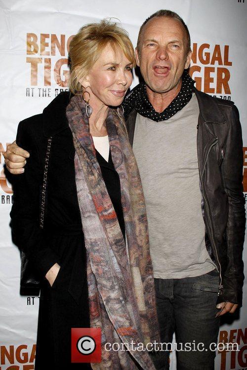 Trudie Styler and Sting aka Gordon Sumner Opening...