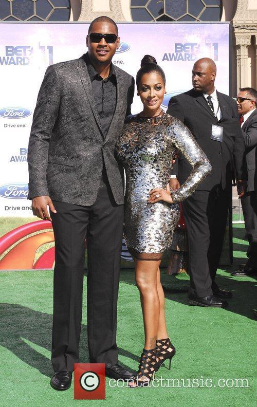 Carmelo Anthony, LaLa Anthony  BET Awards '11...