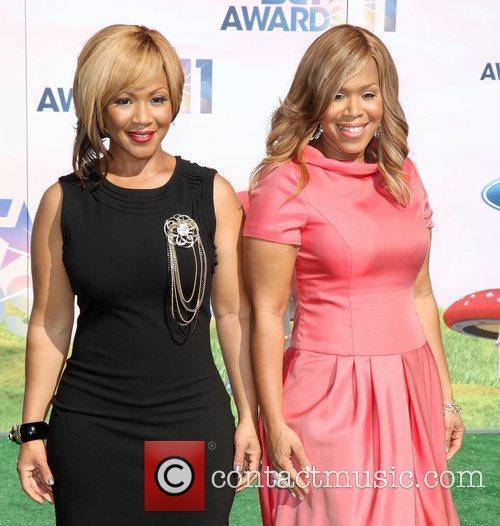 Tina Atkins-Campbell and Erica Atkins-Campbell of the gospel...