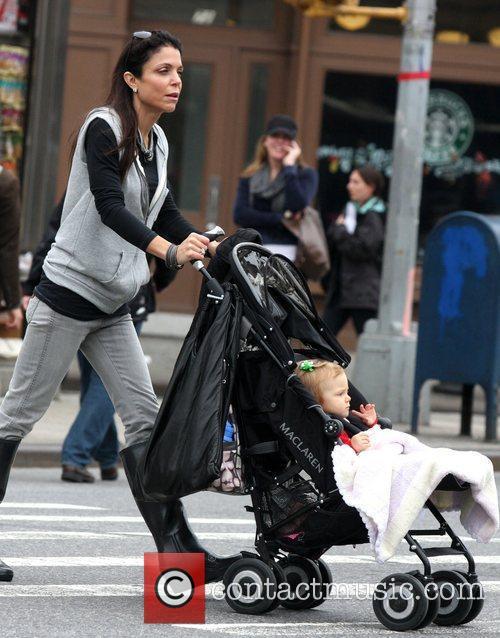 Bethenny Frankel seen strolling through Greenwich Village with...