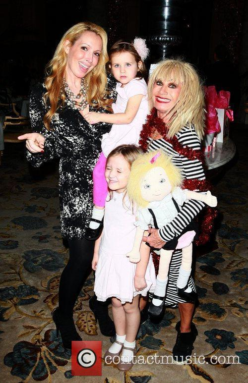 Betsey Johnson and Lulu Johnson and granddaughter Layla...