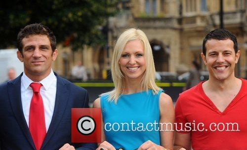 Alex Reid, Korin Nolan and Lee Latchford Evans...