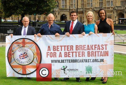 Better Breakfast Campaign Photocall held at Cromwell Green
