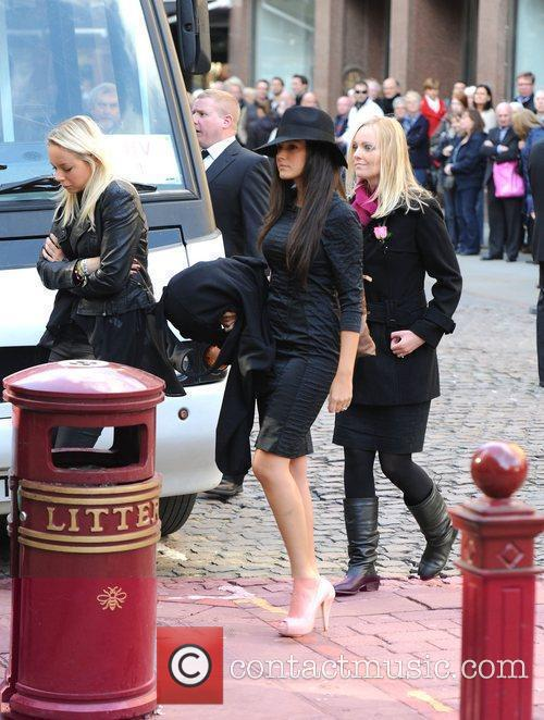 Michelle Keegan  The funeral of Betty Driver...