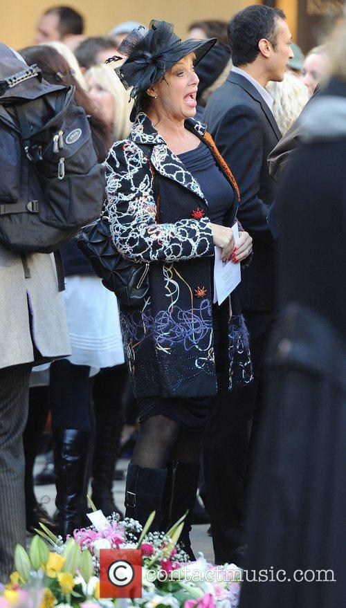 Denise Welch The funeral of Betty Driver held...