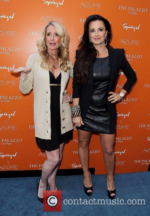 Beverly Hills Housewives Kim Richards and Kyle Richards...