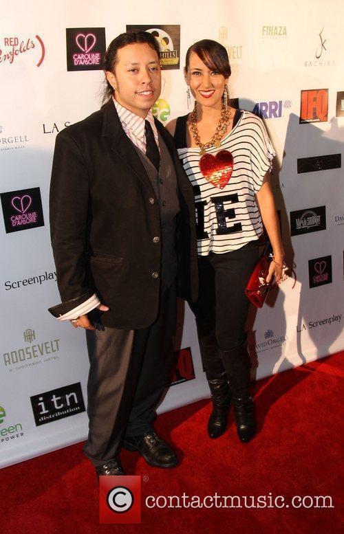 Carlos Ramirez and Burgandi Phoenix Beverly Hills Film...