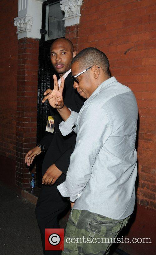 Rapper Jay-Z Celebrities arrive at O2 Shepherds Bush...