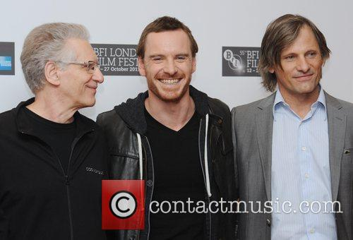 David Cronenberg, Michael Fassbender, Viggo Mortensen and Odeon West End 1