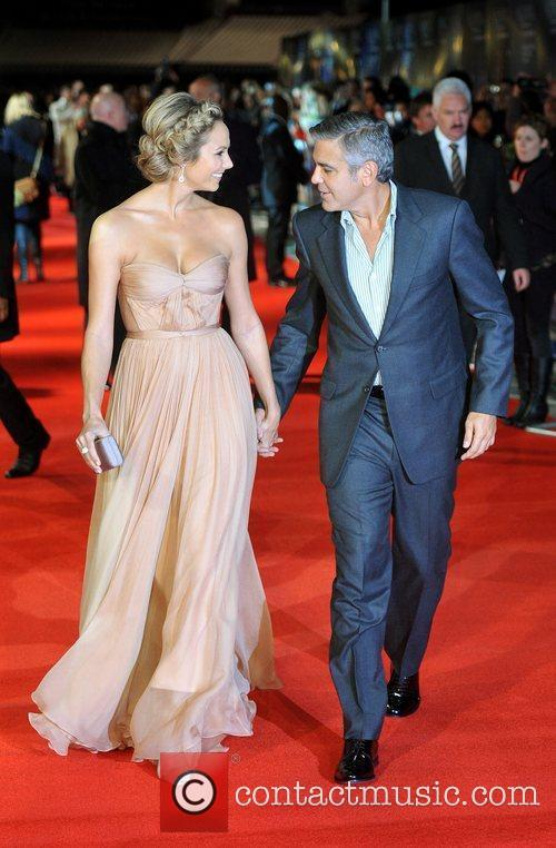 Stacy Keibler, George Clooney and Odeon Leicester Square 3