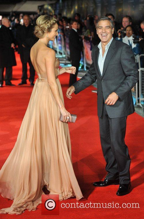 Stacy Keibler, George Clooney and Odeon Leicester Square 2