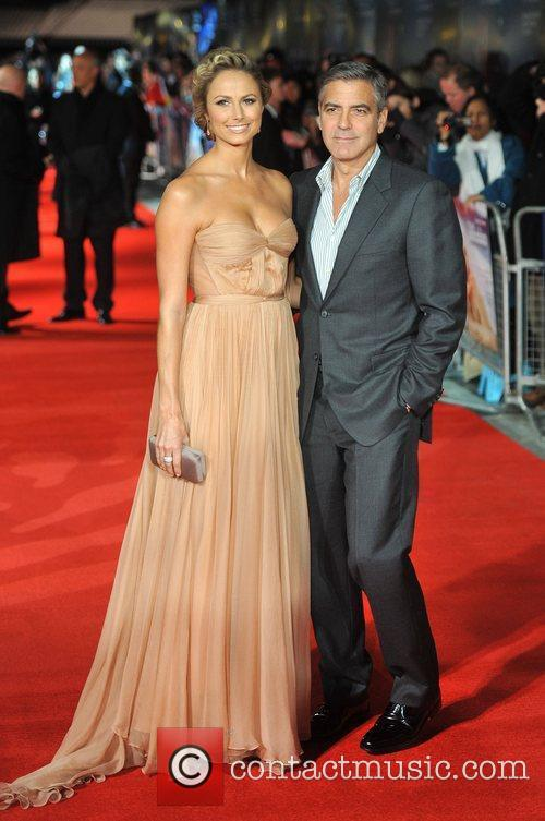 Stacy Keibler, George Clooney and Odeon Leicester Square 6