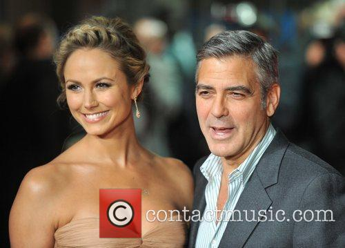 Stacy Keibler, George Clooney and Odeon Leicester Square 1