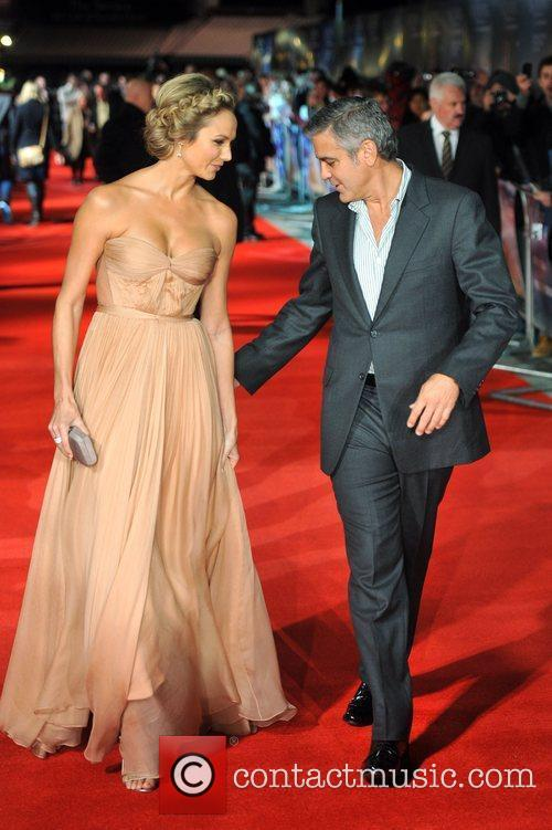George Clooney and Stacy Keibler The BFI London...