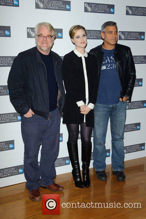 Philip Seymour Hoffman, Evan Rachel Wood, George Clooney and Odeon West End 9
