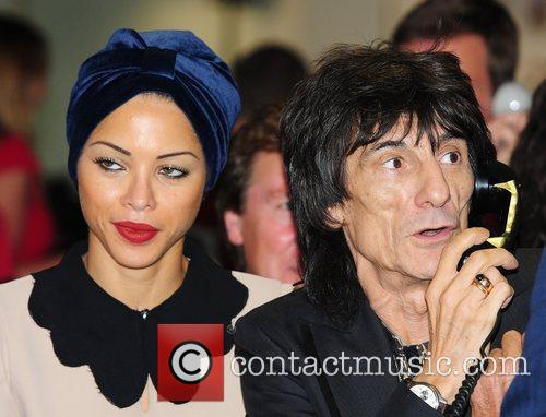 Ronnie Wood and Ana Araujo,  on the...