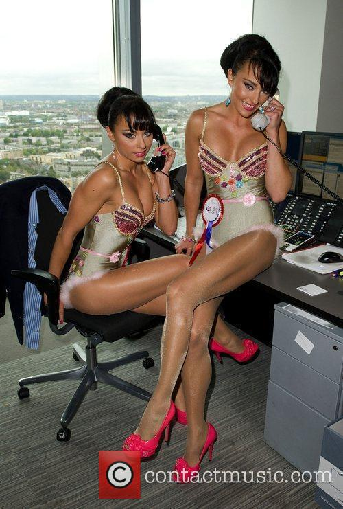 Cheeky Girls,  on the trading floor of...