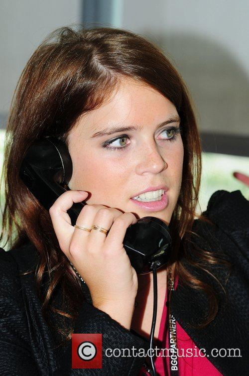 Princess Eugenie,  on the trading floor of...