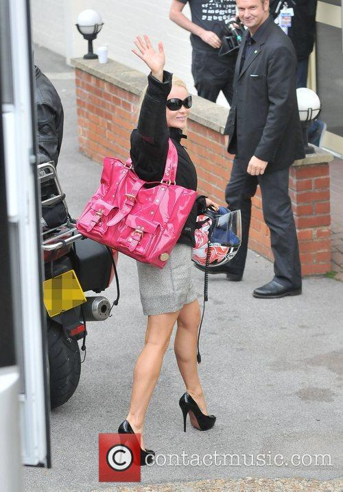 Arriving at the studio for the 'Britain's Got...