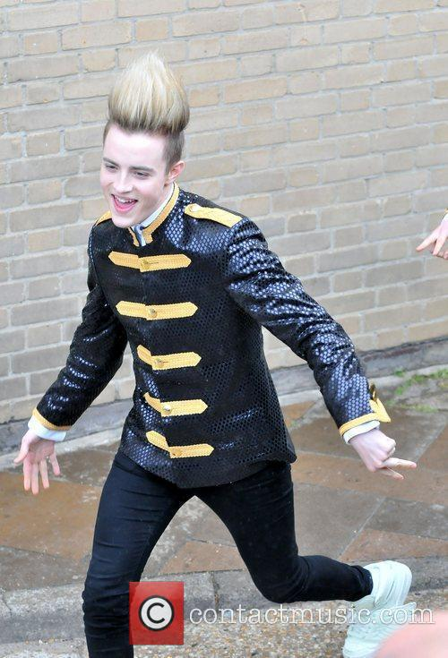 Jedward arriving at the studio for the 'Britain's...