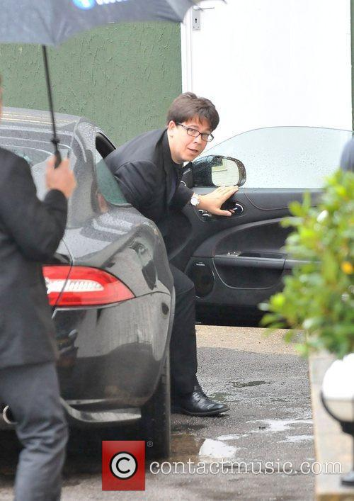 Michael McIntyre arriving at the studio for the...