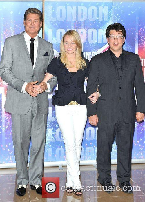 Amanda Holden, David Hasselhoff and Michael McIntyre Britain's...