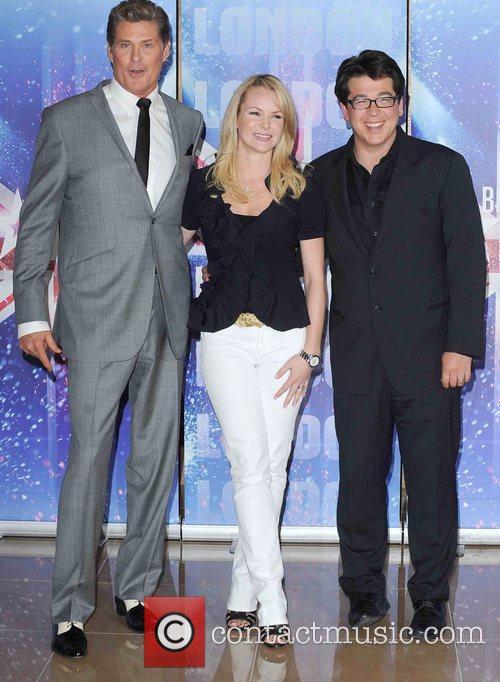 David Hasselhoff, Amanda Holden and Michael McIntyre at...