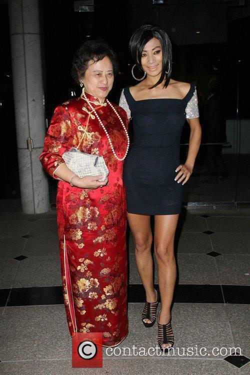 Bai Ling (R) with her mother Chen Binbin...