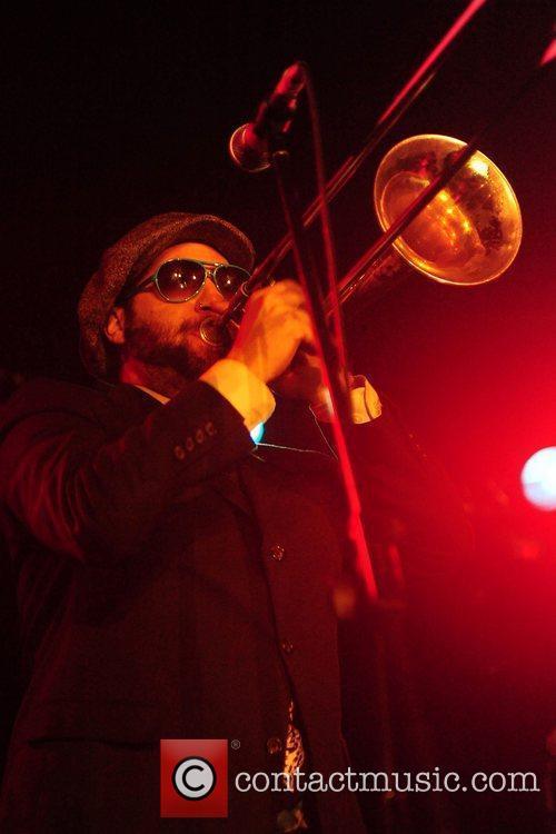 Dan Regan onTrombone of Big Reel Fish performing...