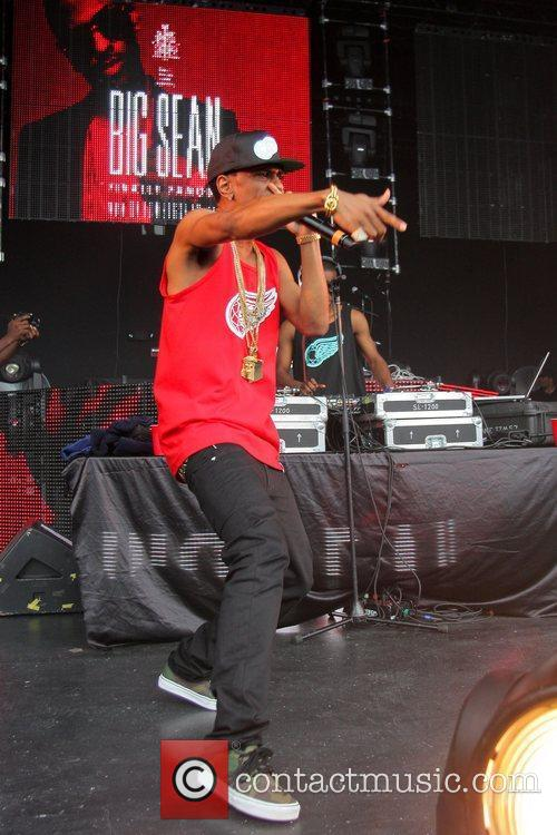 Big Sean performs during the Rolling Papers Tour...