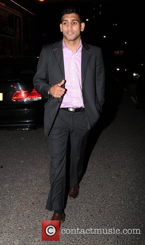 Amir Khan arrives at Bijou club Manchester, England
