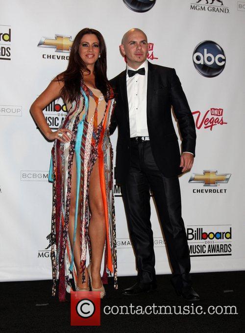 Nayer, Pitbull  at the 2011 Billboard Music...