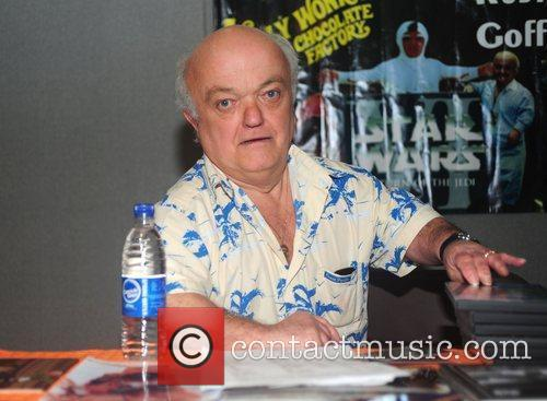 Celebrities sign autographs at the Memorabilia Show at...