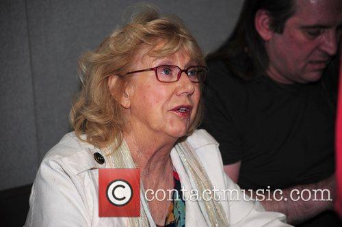 Sheila Steafel Celebrities sign autographs at the Memorabilia...