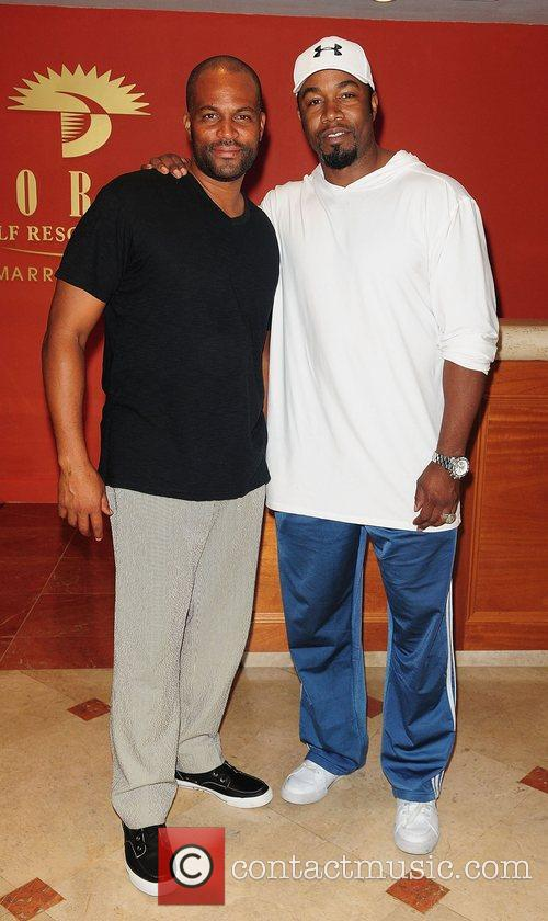 Chris Spencer and Michael Jai White at the...