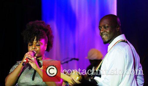 Wyclef Jean and his sister Melky Jean perform...
