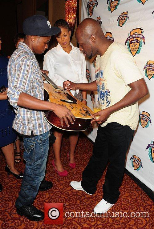 Wyclef Jean  at the La Pepsi Fete...